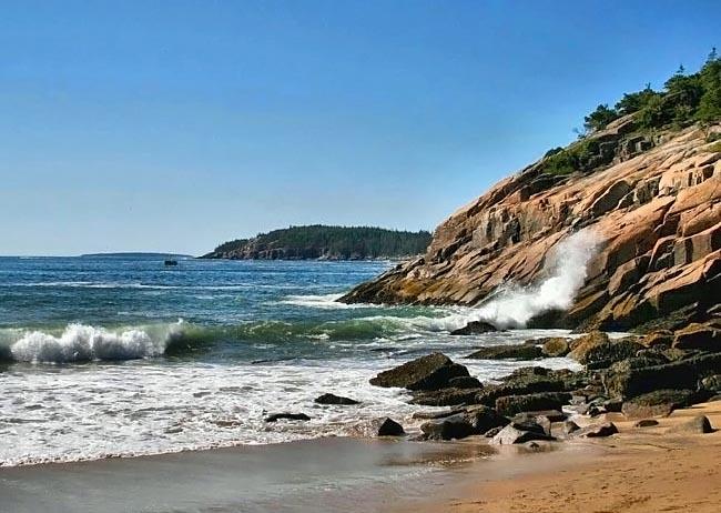 Sand Beach Acadia National Park Maine