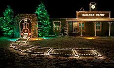 railway depot overlys country christmas pennsylvania - Overly Country Christmas